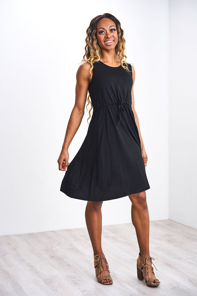 Latched Mama Drawstring Tank Dress 2.0