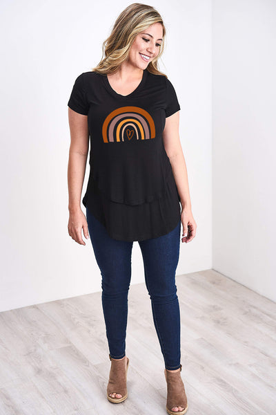 Latched Mama Rainbow Nursing Tee