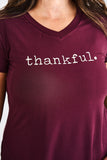 Latched Mama Thankful V-Neck Nursing Tee
