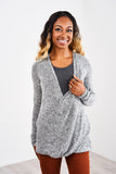 Latched Mama Tie-Front Nursing Sweater
