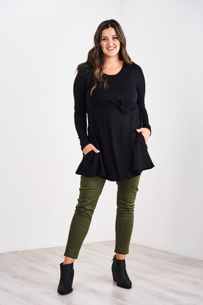 Latched Mama Long Sleeve Peekaboo Nursing Tunic