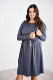 Latched Mama Midi Sweater Nursing Dress