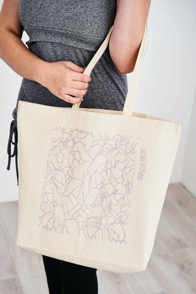 Latched Mama Canvas Nursing Tote Bag