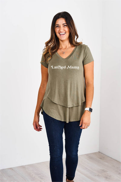 Latched Mama Retro Love Nursing Tee