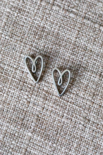 Latched Mama Heart Studs
