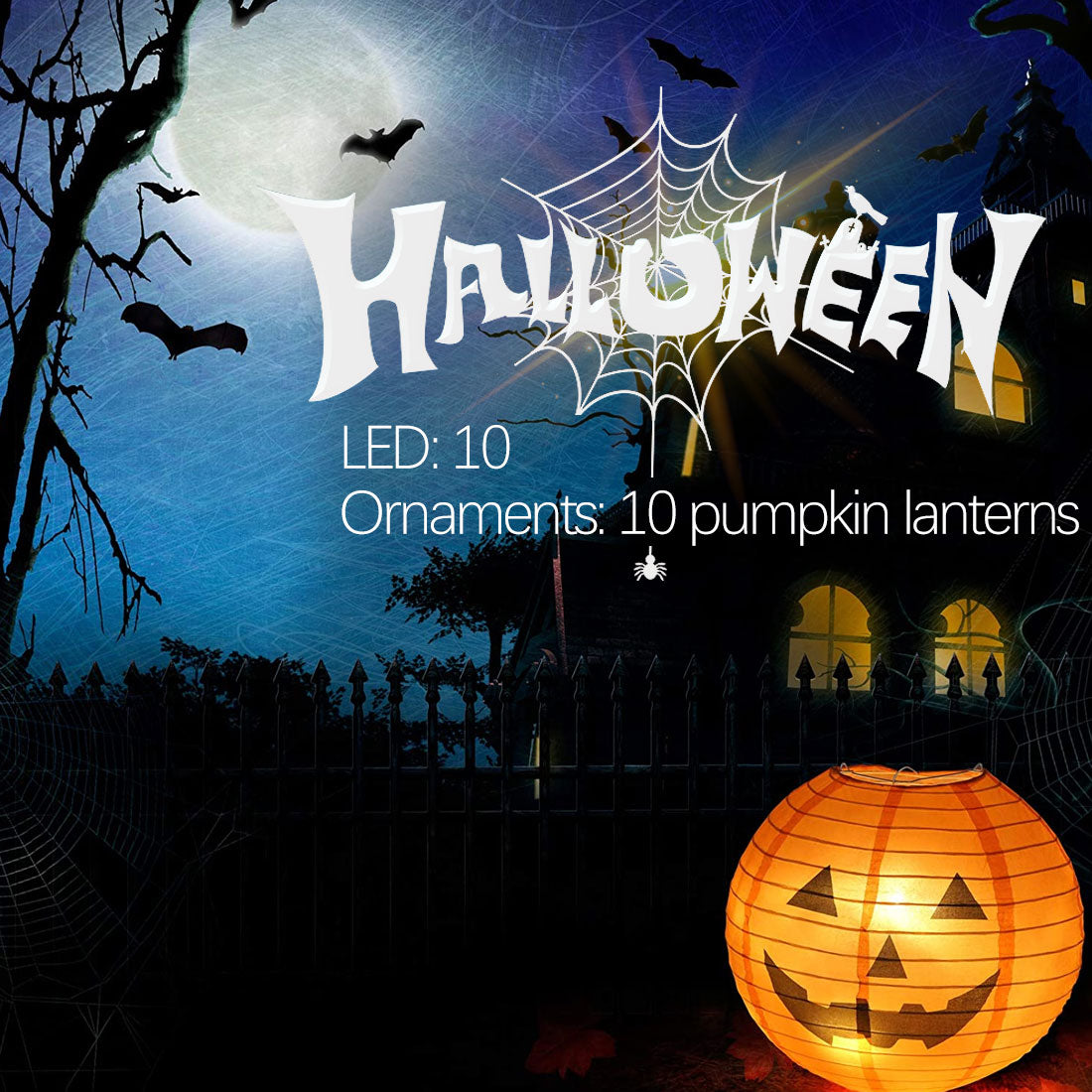3D Led string lights for Halloween Christmas New Year