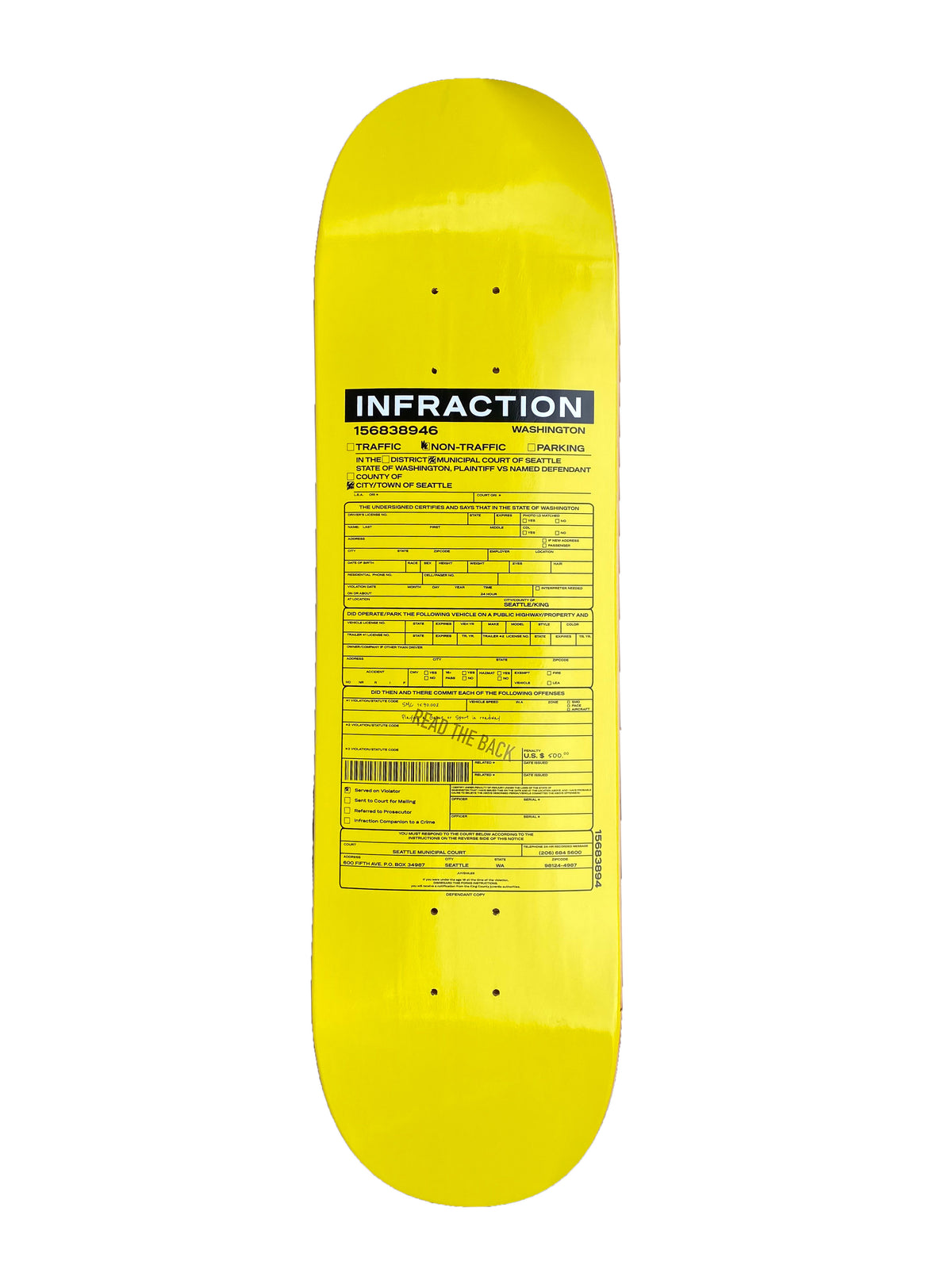 Best Skate Co. - Infraction Skateboard Deck