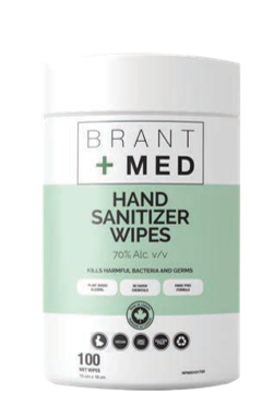 Brant+Med™ Wipes - 70% Alcohol ($0.0625/pc+)