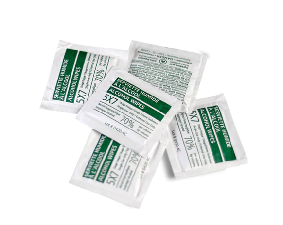 Individual Wipes –  70% Isopropryl ($0.0495/pc+)