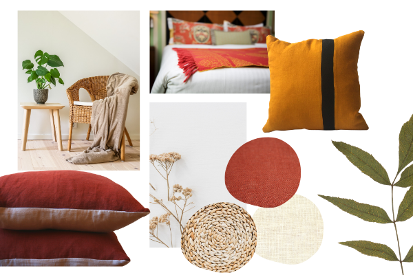Sustainable homeware trends 2021 - earth tones, colour, natural fibres
