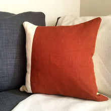 Load image into Gallery viewer, Red squirrel cushion front rust and cream