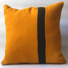Load image into Gallery viewer, yellow cushion cover with black stripe