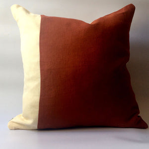 Red squirrel cushion front rust and cream