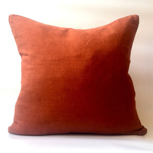 red squirrel rust red cushion front