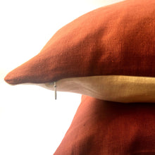 Load image into Gallery viewer, Red squirrel cushion stripe zip closed