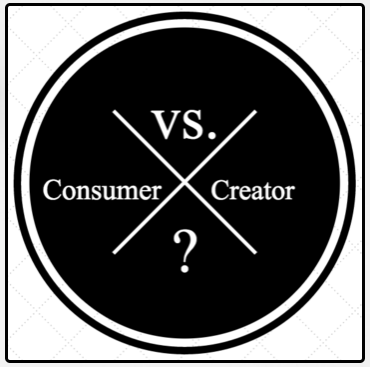 Are you a consumer or a creator?