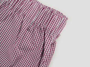 RED CHECKERED MEN'S BOXER