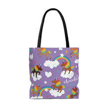 Load image into Gallery viewer, Signature Pattern (Purple) Tote Bag