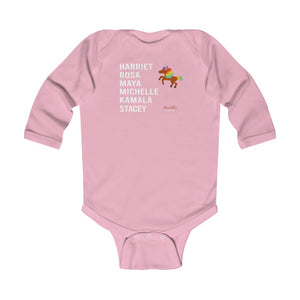 ChocUnicorn A LEGACY DEFINED Infant Long Sleeve Bodysuit