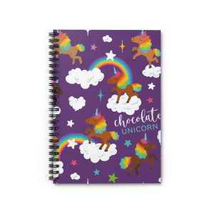 Signature Pattern Purple Spiral Notebook - Ruled Line
