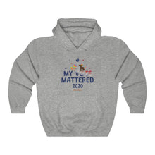 Load image into Gallery viewer, ChocUnicorn My Vote Mattered Unisex Heavy Blend™ Hooded Sweatshirt