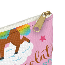 Load image into Gallery viewer, Signature Pattern Flat Accessory Pouch