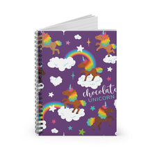 Load image into Gallery viewer, Signature Pattern Purple Spiral Notebook - Ruled Line