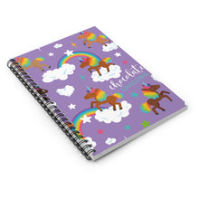 Load image into Gallery viewer, Signature Pattern Lavender Spiral Notebook - Ruled Line