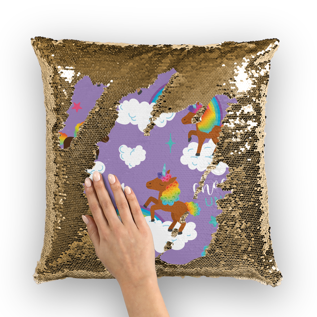 Signature Pattern (Purple) Sequin Cushion Cover