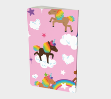 Load image into Gallery viewer, Chocolate Unicorn Notebook (Unlined)
