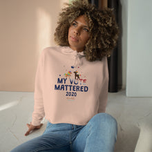 Load image into Gallery viewer, ChocUnicorn My Vote Mattered Crop Hoodie