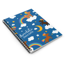 Load image into Gallery viewer, Signature Pattern (Male) Spiral Notebook - Ruled Line