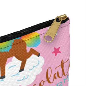 Signature Pattern Flat Accessory Pouch