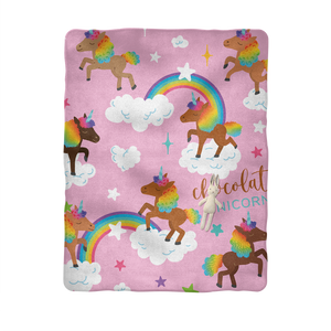 Signature Pattern Sublimation Baby Blanket