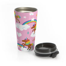 Load image into Gallery viewer, Chocolate Unicorn Signature Pattern Stainless Steel Travel Mug