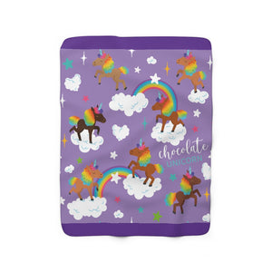 Signature Pattern (Purple) Sherpa Fleece Blanket