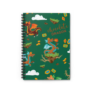 Chocolate Dragon (Green) Spiral Notebook - Ruled Line
