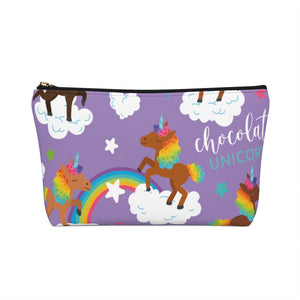 Signature Pattern (Purple) Accessory Pouch w T-bottom