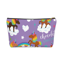 Load image into Gallery viewer, Signature Pattern (Purple) Accessory Pouch w T-bottom