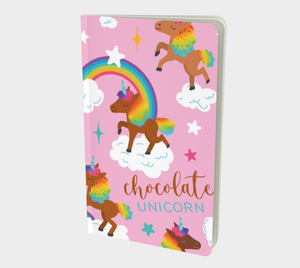Chocolate Unicorn Notebook (Unlined)