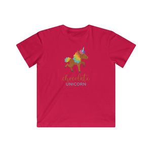 Chocolate Unicorn Kids Fine Jersey Tee (Walking Unicorn)