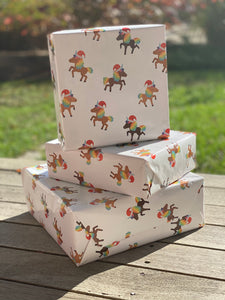 Holiday Unicorn Solo Unicorns Wrapping Paper