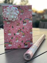 Load image into Gallery viewer, Holiday Unicorn Signature Pattern Wrapping Paper