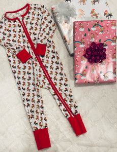 Holiday Signature Pattern Infant/Toddler Onesies Pajamas (PREORDER)
