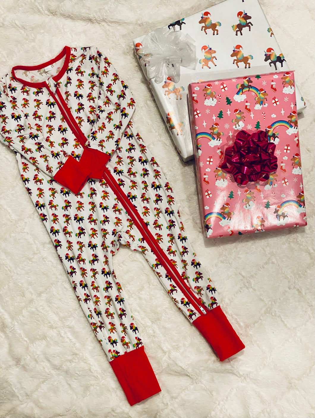 Holiday Signature Pattern Infant/Toddler Onesies Pajamas (IN STOCK)