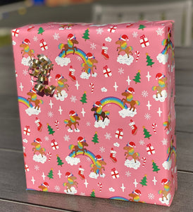 Holiday Unicorn Signature Pattern Wrapping Paper