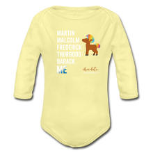 Load image into Gallery viewer, THE LEGACY CONTINUES Organic Long Sleeve Baby Bodysuit - washed yellow