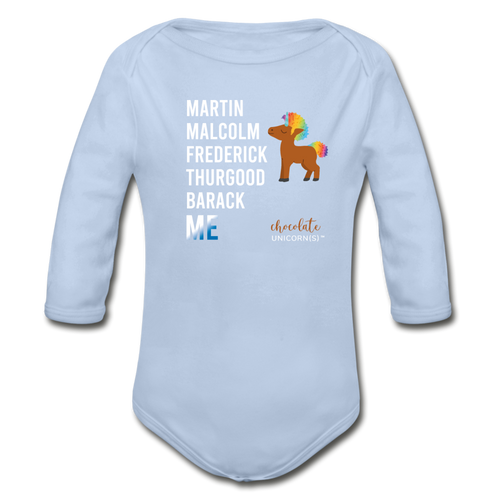 THE LEGACY CONTINUES Organic Long Sleeve Baby Bodysuit - sky