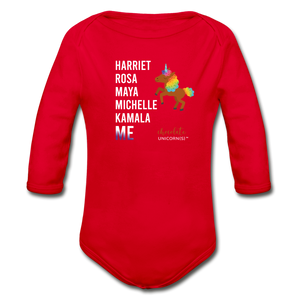 THE LEGACY CONTINUES Organic Long Sleeve Baby Bodysuit - red