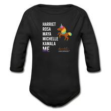 Load image into Gallery viewer, THE LEGACY CONTINUES Organic Long Sleeve Baby Bodysuit - black